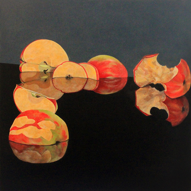 Sally Pettus painting, Apple