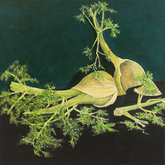 Sally Pettus painting, Fennel